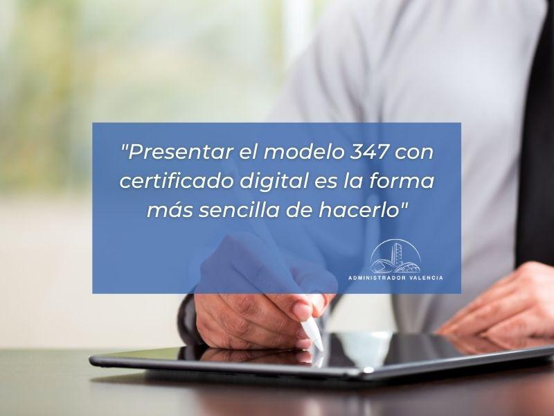 Modelo 347 comunidades de propietarios